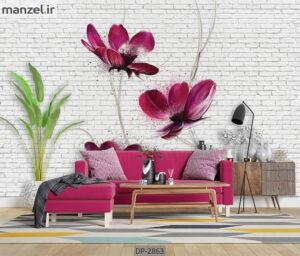 پوستر دیواری طرح گل DP-2863