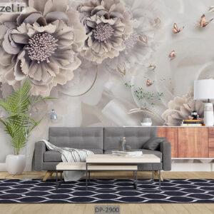 پوستر دیواری طرح گل فانتزی DP-2900