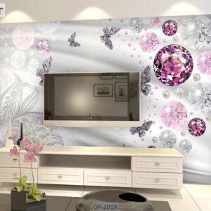 پوستر دیواری طرح گل فانتزی DP-2919