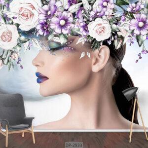 پوستر دیواری طرح چهره زن DP-2933