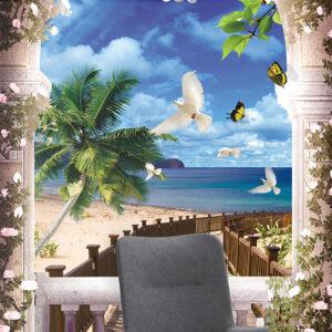 پوستر دیواری طرح ساحل DP-2947