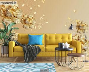 پوستر دیواری طرح درخت و شکوفه DP-2953