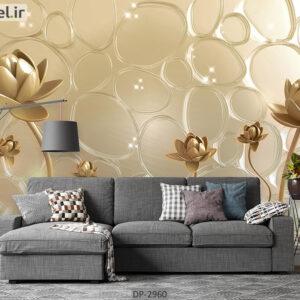 پوستر دیواری طرح گل فانتزی DP-2960