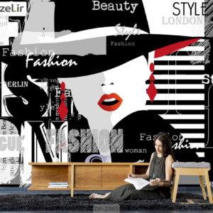 پوستر دیواری طرح چهره زن DP-2965