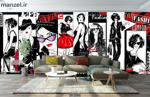 پوستر دیواری طرح چهره زن DP-2966