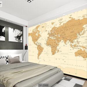 پوستر دیواری طرح نقشه جهان DP-2988