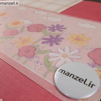بوردر کاغذ دیواری طرح گل و زنبور کد bq271002b