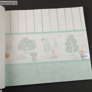 بوردر کاغذ دیواری طرح حیوانات کارتونی کد bq270201b