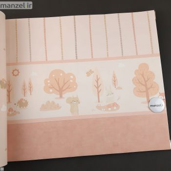 بوردر کاغذ دیواری طرح حیوانات کارتونی کد bq270202b