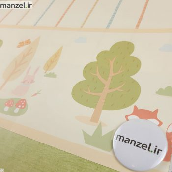 بوردر کاغذ دیواری طرح حیوانات کارتونی کد bq270204b