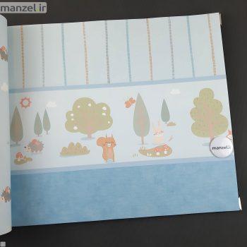 بوردر کاغذ دیواری طرح حیوانات کارتونی کد bq270203b