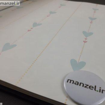 کاغذ دیواری طرح قلب کد bq270602