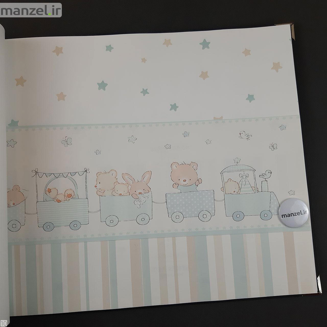 عکس کاغذ دیواری اتاق کودک طرح حیوانات