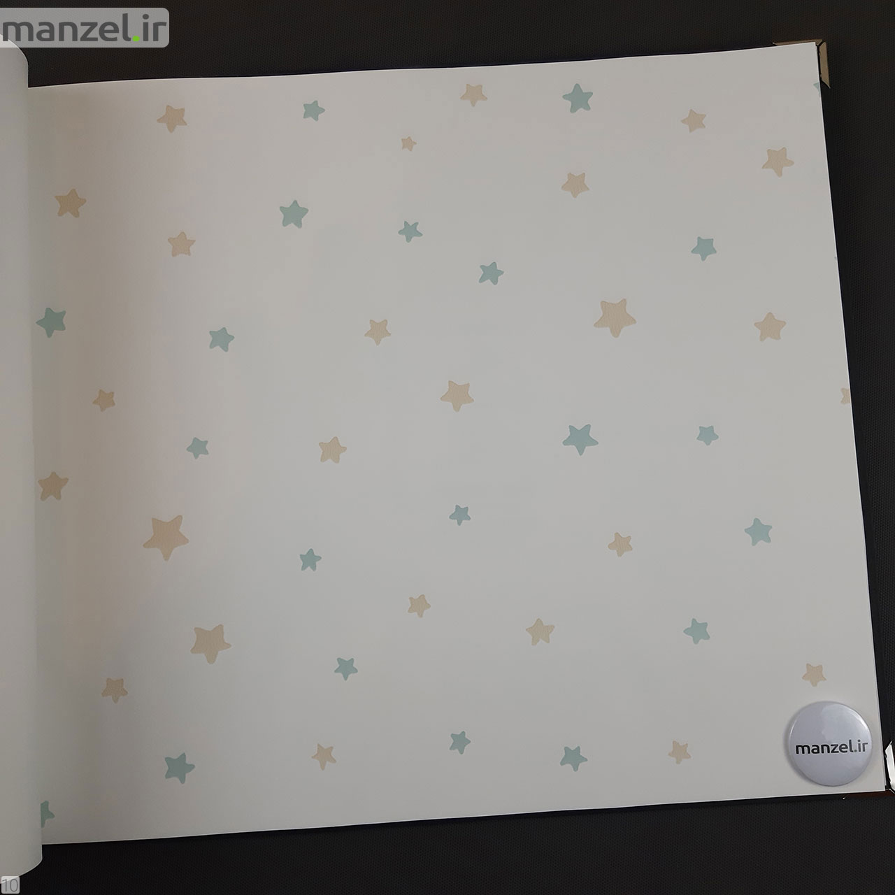 کاغذ دیواری برای اتاق کودک طرح ستاره رنگ روشن