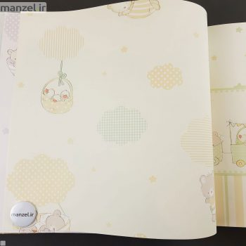 کاغذ دیواری طرح حیوانات کارتونی کد bq271603