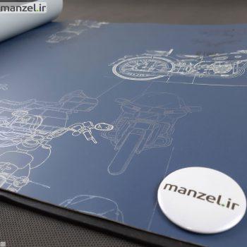 کاغذ دیواری طرح موتور سیکلت کد bq271403