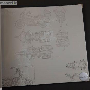 کاغذ دیواری طرح موتور سیکلت کد BQ271402