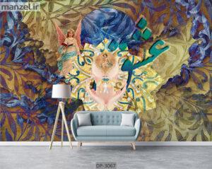 پوستر دیواری طرح چهره و شعر DP-3067