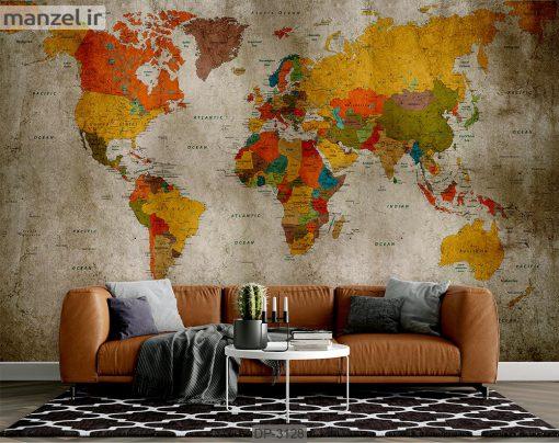 پوستر دیواری طرح نقشه DP-3128