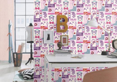 کاغذ دیواری دخترانه