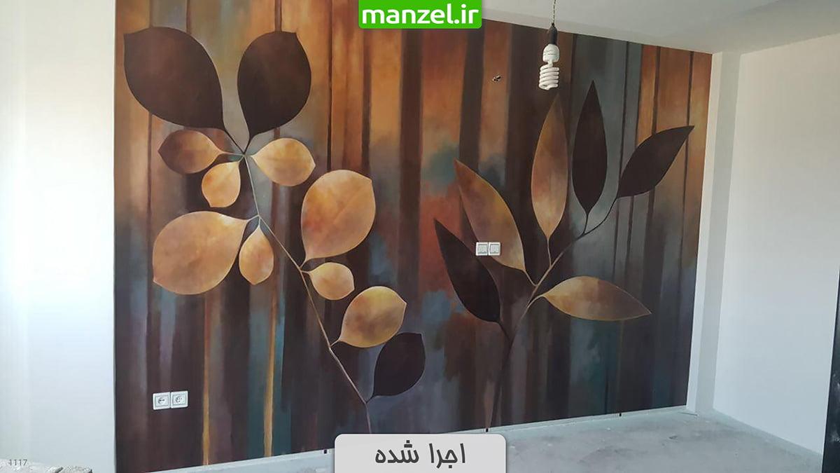 پوستر دیواری گل اجرا شده 1117