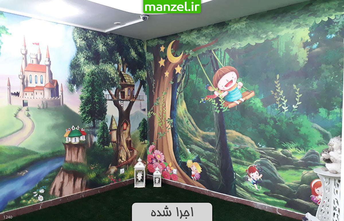 پوستر دیواری اجرا شده اتاق کودک 1240