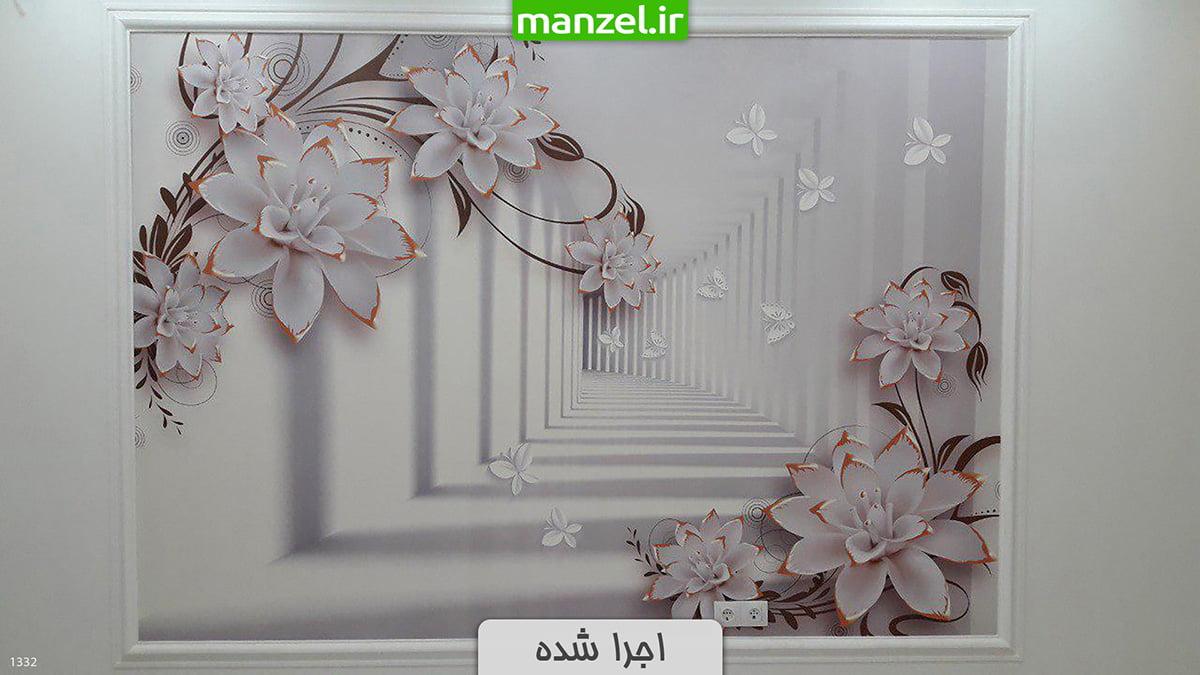 کاغذ دیواری سه بعدی گل 1332
