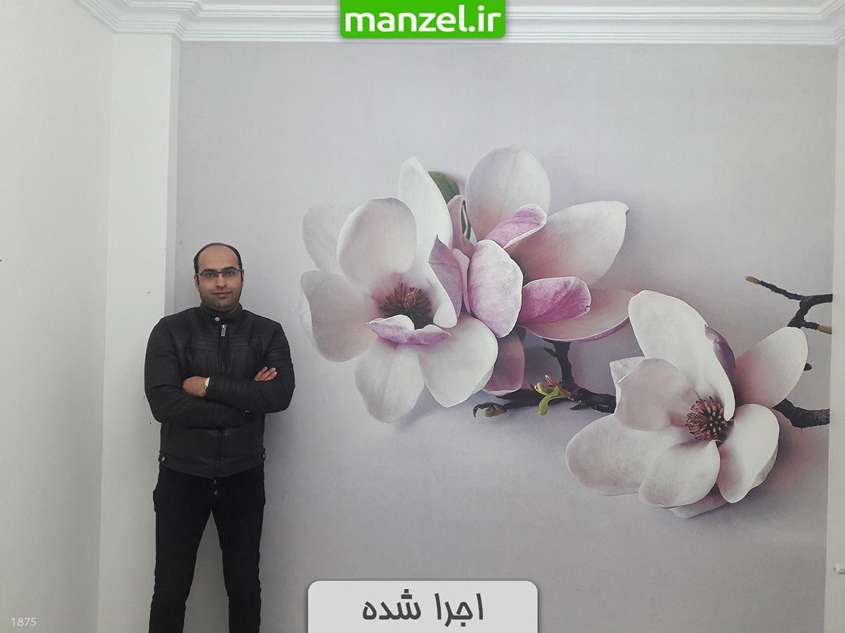 پوستر دیواری سه بعدی گل 1875