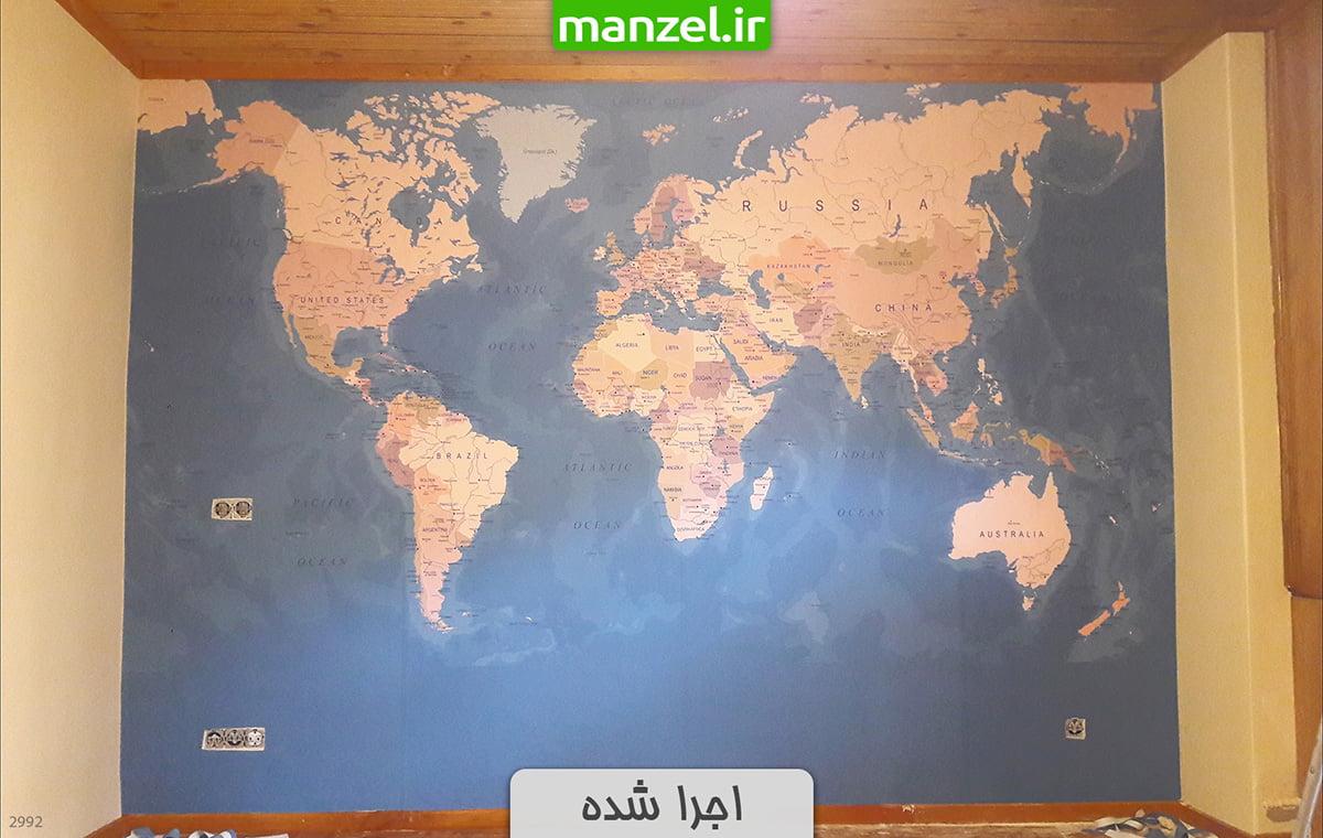 پوستر دیواری نقشه جهان 2992