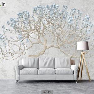 پوستر دیواری طرح درخت و شکوفه DA-3155