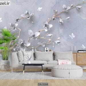 پوستر دیواری طرح درخت و شکوفه DA-3164
