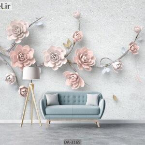 پوستر دیواری طرح درخت و شکوفه DA-3169