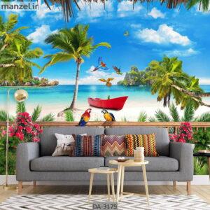 پوستر دیواری طرح دریا و ساحل DA-3179