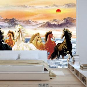 پوستر دیواری حیوانات طرح اسب DP-3220
