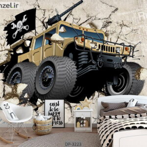 پوستر دیواری کارتونی طرح ماشین DP-3223