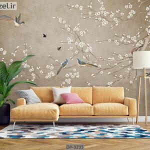 پوستر دیواری طرح درخت و شکوفه DP-3235