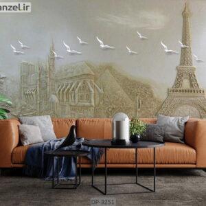 پوستر دیواری طرح برج ایفل DP-3251