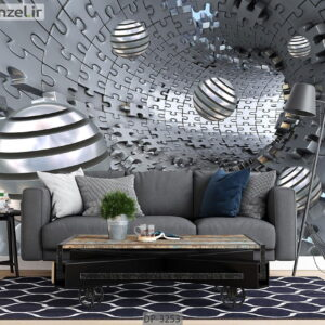 پوستر دیواری طرح اشکال هندسی و عمق دار DP-3251
