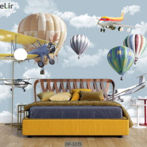 پوستر دیواری طرح هواپیما و بالون DP-3275