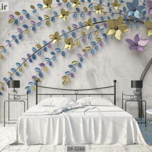پوستر دیواری طرح درخت فانتزی و شکوفه DP-3284