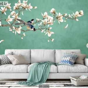 پوستر دیواری طرح درخت و شکوفه DP-3296