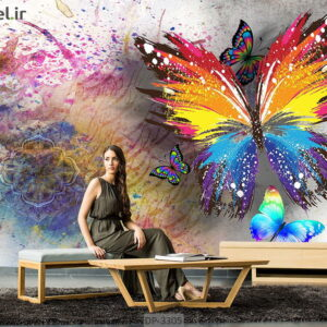 پوستر دیواری طرح پروانه DP-3305