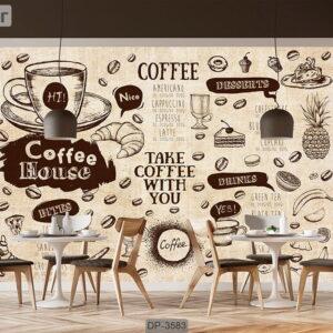 پوستر دیواری طرح کافی شاپ DP-3583