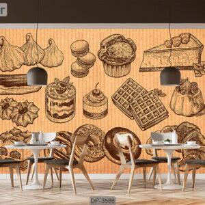 پوستر دیواری طرح کافی شاپ DP-3586