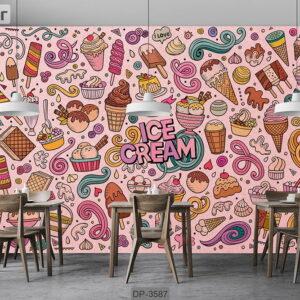 پوستر دیواری طرح کافی شاپ DP-3587