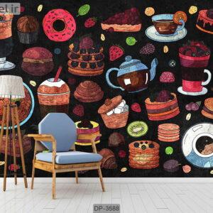 پوستر دیواری طرح آشپزخانه DP-3588