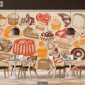پوستر دیواری طرح کافی شاپ DP-3589