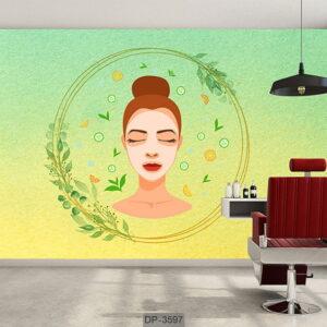 پوستر دیواری طرح سالن زیبایی DP-3597