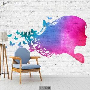 پوستر دیواری طرح دخترانه DP-3601