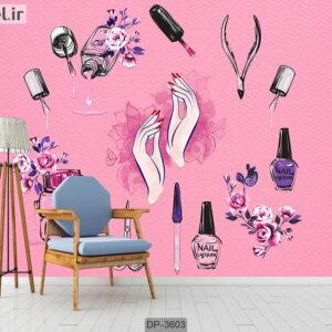 پوستر دیواری طرح سالن زیبایی DP-3603